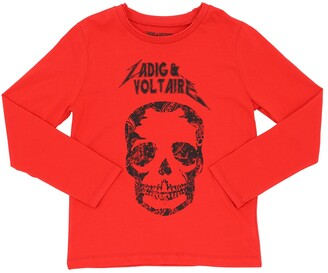 Zadig & Voltaire Skull Print L/s Cotton Jersey T-shirt