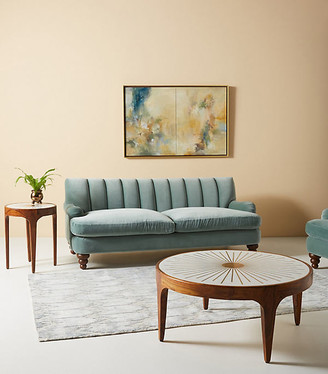 Anthropologie Channel Tufted Two-Cushion Sofa By in Assorted Size ALL