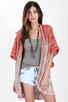 Goddis Amelia Knit Kimono In Fire Mist