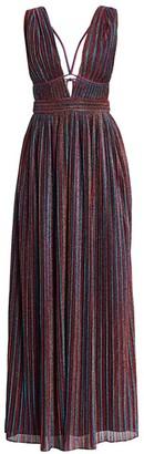 Jonathan Simkhai Rainbow Pleats Lurex Sleeveless Gown