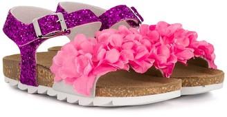 MonnaLisa Floral Applique Sandals