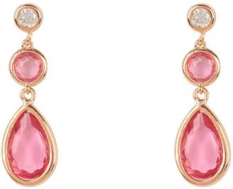 Latelita Tuscany Gemstone Drop Earring Rose Gold Pink Tourmaline