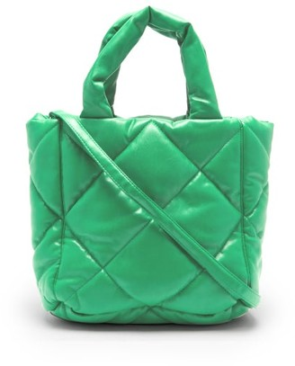 Stand Studio Rosanne Mini Quilted Faux-leather Tote Bag - Green