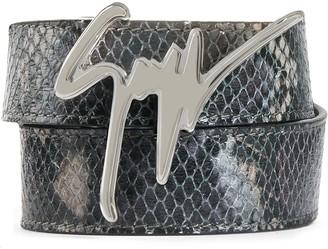 Giuseppe Zanotti Logo Plaque Belt