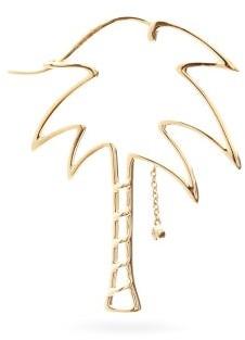 Yvonne Léon Diamond & Gold Palm-tree Single Earring - Yellow Gold