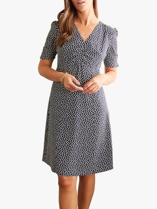 Boden Jemima Puff Sleeve Dress, Navy