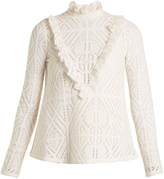 See by Chloe High-neck crochet-effect blouse