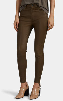 Rag & Bone Women's Nina Leather High-Rise Ankle Skinny Jeans - Green