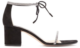 Gianvito Rossi Aria 60 Crystal-embellished Block-heel Sandals - Black