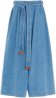 Loewe Cropped Belted Jeans