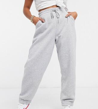 ASOS DESIGN Petite super oversized jogger in grey marl