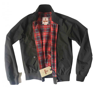 Baracuta Black Cotton Leather jackets