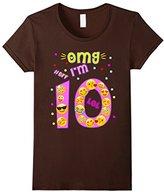 Men's Emoji Birthday Shirt For Girls OMG I'm 10 Ten BFF LOL Medium