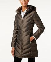 Calvin Klein Hooded Chevron Water-Resistant Down Puffer Coat