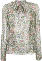 Giambattista Valli printed frill trim blouse - women - Silk - 44