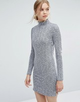 Vila High Neck Bodycon Dress