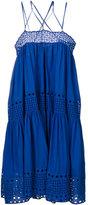Plein Sud Jeans crisscross strap dress