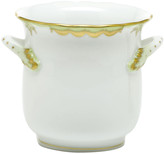 Herend Princess Victoria Green Mini Cache Pot with Handles