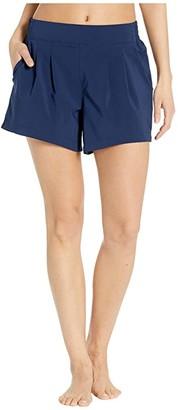 Skechers Pleated Shorts (Navy) Women's Shorts