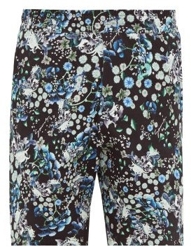Givenchy Floral-print Cotton Shorts - Black Multi