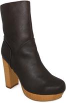 C Label Brown Platform Ankle Boot