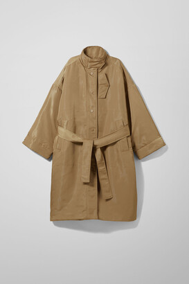 Weekday Shiloh Padded Coat - Beige