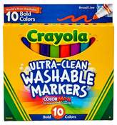 Crayola Ultra-Clean Markers Broad Line Washable 10ct Bold