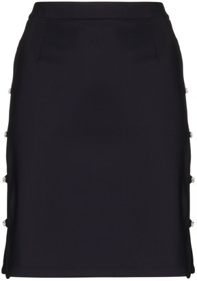 Marcia Tchikiboum button-side skirt