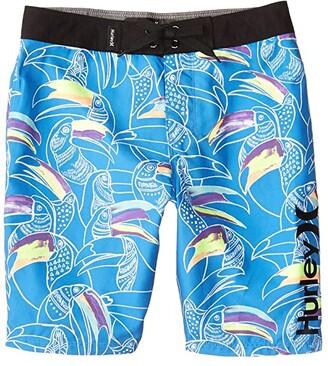 Hurley Basin Beach Birds Boardshorts (Big Kids) (Pacific Blue) Boy's Swimwear