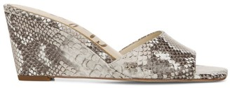 Sam Edelman Tesma Snakeskin-Embossed Leather Wedge Mules