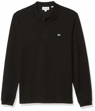 Lacoste Men's Long Sleeve Stretch Grey Croc Pique Polo