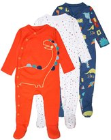 Mothercare BOYS DINO SLEEPSUIT BABY 3 PACK Pyjamas brights multicolor