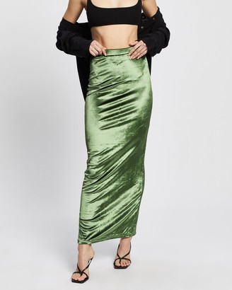 Dazie - Women's Green Midi Skirts - Now Or Never Midi Skirt - Size 6 at The Iconic