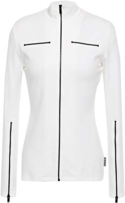 Proenza Schouler Pswl Zip-detailed Stretch-cotton Jersey Jacket