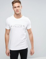 Sisley Crew Neck T-shirt With Embroidery