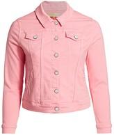 Slink Jeans, Plus Size Button-Front Denim Jacket