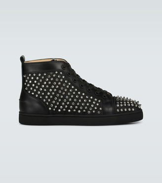 Christian Louboutin Louis Canvas Lurex sneakers