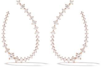 As 29 18k pink gold diamond Swing small hoop earrings
