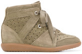 Isabel Marant Bobby wedge sneakers - women - Leather/Pig Leather/rubber - 36