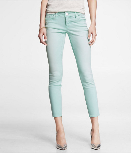 Express Stella Faded Color Ankle Jean Legging - Mint