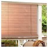 "Ambria Lewis Hyman 0321266 Woodgrain 1/4"" Oval Vinyl PVC Rollup Blinds. 72"" W x 72"" L"