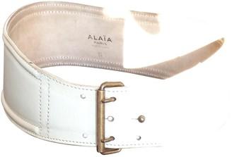 Alaia Beige Leather Belts