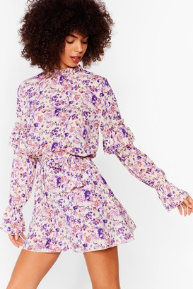 Nasty Gal Womens You're Doin' Bud Floral Mini Dress - Pink - 8, Pink