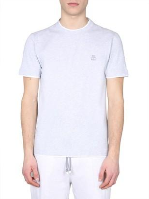 Brunello Cucinelli Logo Motif T-Shirt