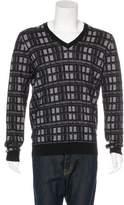 Louis Vuitton Cashmere-Blend V-Neck Sweater