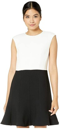 Kate Spade Color-Block Dress (Black) Women's Dress