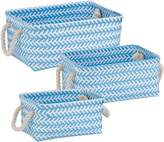 Honey-Can-Do STO-06691 Zig Zag Set of Nesting Baskets with Handles, Set of 3-Pack