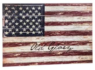 Evergreen Old Glory 24x36 Outdoor Wooden Plank Wall Decor