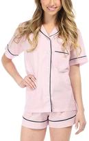 Malabar Bay Pink Stripe Organic Cotton Pajama Set