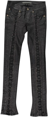 Superfine Black Polyester Jeans